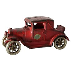 "1928-1932 Cast Iron 5"" Arcade Ford Coup with Rumble Seat"