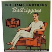 """Vintage """"Balbriggans"""" Williams Brothers Men's Underwear Box"""