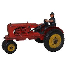 "1939-1941 Hubley 'Allis-Chalmers' Cast Iron 7"" Farm Tractor"