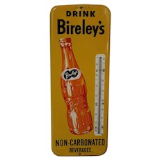 1950's Authentic 'Drink Bireley's' Metal Advertising Thermometer
