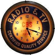 1950's 'CBS Hytron Tube' Lighted Advertising Clock