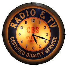1950's 'CBS Hytron Tube' Lighted Advertising Clock