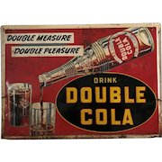"Very Rare 1949 ""Drink Double Cola"" Embossed 28"" x 20"" Metal Sign"