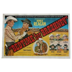 "Copyrighted 1981 'Movie Spoof' Ronald Reagan ""Bedtime For Brezhnev"" Political Parody Poster."