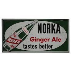 "1940-1962 Norka 'Ginger Ale""  24""x 32"" Litho Metal Sign"