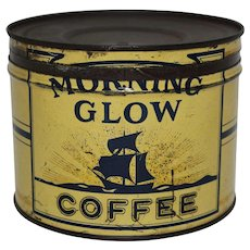 1930-1942 'Morning Glow' Key Wind Litho Coffee Tin