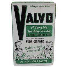 1950's Unopened Box of  'Valvo' All Purpose Washing Powder