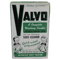 1950's Unopened Box of  'Valvo' All Purpose Washing Powder