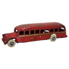 "1936-1941 Arcade Coast to Coast ""GMC""  Cast Iron Bus"