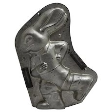 Pre-1939 H. Walter, Berlin, Germany,  Large Running Bunny Chocolate Mold