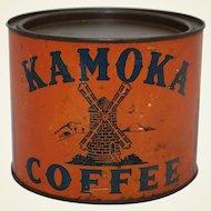 Rare Late 1800's 'KAMOKA' One Pound Litho Coffee Tin