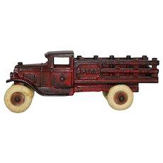 "Rare 1925-1930 Kenton 6 1/2"" Cast Iron ""Speed"" Stake Truck"