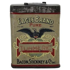 Early 1900's Bacon, Stickney & Co.  Turmeric Litho Spice Tin