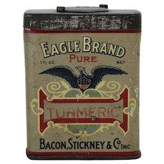 Early 1900's Bacon, Stickney & Co.  Turmeric Litho Spice Tin