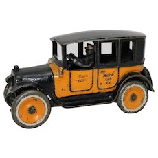 "1923-1926 Arcade ""Special Order""  8"" Long Cast Iron Yellow Cab"