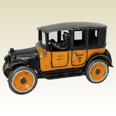 """1923-1926 Arcade """"Special Order""""  8"""" Long Cast Iron Yellow Cab"""