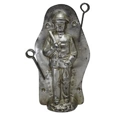 1920's Anton Reiche German 'Coal Miner with Mine Cart' Chocolate Mold