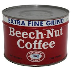 1940-1962 Unopened 'Beech-Nut' Litho Key Wind Coffee Can