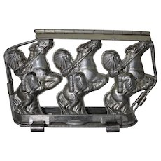 Rare 1934 -1939  'Anton Reiche'  American Indians on Horses, Hinged Chocolate Mold