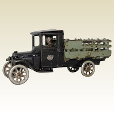 """1927-1928 Arcade 9"""" Two-toned Ford Stake Body Truck"""