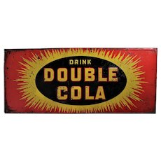 1939,1940s 'Double Cola' Embossed Tin Advertising Sign