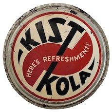 """Rare Large 36"""" Diam. """"Kist Kola""""  Bottle Cap, Advertising Metal Sign"""