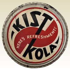 "Rare Large 36"" Diam. ""Kist Kola""  Bottle Cap, Advertising Metal Sign"
