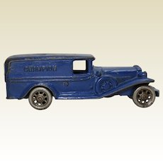 "Early 1930's  ""Champion"" Cast Iron 7 3/4"" Panel Delivery Truck"