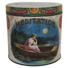 "Rare Turn of Century ""Meditation"" 50 Count Cigar Tin"