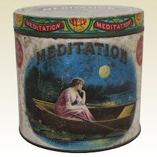 "Rare Turn of Century ""Meditation"" 50 Count Cigar Tin"