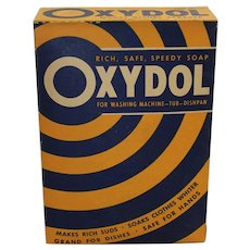 1930-1955 Unopened 'Oxydol' Large Size Laundry Detergent Box