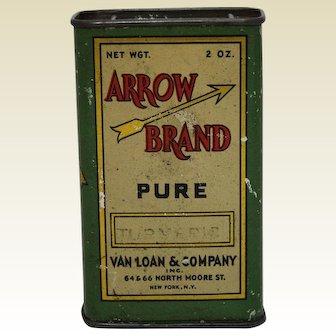 Early 1900's 'Arrow Brand' Litho Turmeric Spice Tin