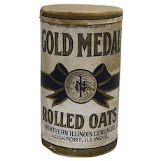 "1911-1945 ""Gold Medal"" Rolled Oats Cardboard Container"
