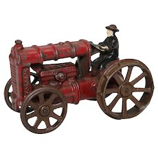 "1920'S Arcade 'Fordson' 5 1/2""  Cast Iron Tractor with Driver"