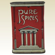Rare Early 1900's 'Consumers Wholesale Grocers' Sage Spice Tin