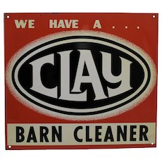 "1940-1960 ""Clay Barn Cleaner"" Advertising Metal Sign"