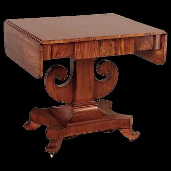 Antique Swedish Mahogany Sofa Table