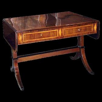 Antique Swedish Mahogany Writing Table w/Banding