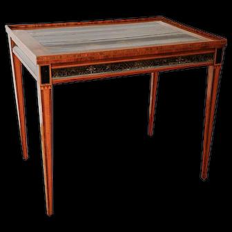 Antique Sheraton Tea Table w/Chinoiserie Top