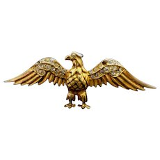 Reduced!  Patriotic Reja Sterling Eagle Brooch! WW II Era Pin!
