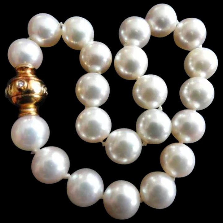 Art Deco 14k Gold Pearl Blue Enamel Bracelet Antique 20 Pearls Approx 6.25 Mm Attractive Designs; Victorian