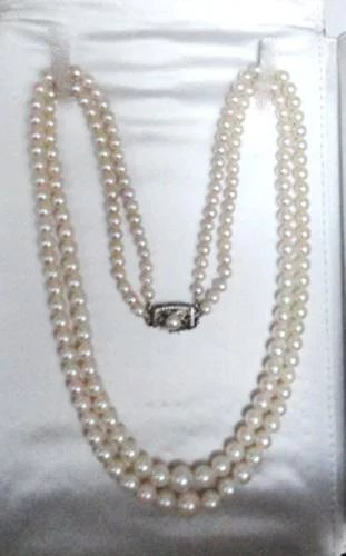Vintage Mikimoto Cultured Pearl Double Strand Necklace 36
