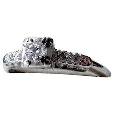 Platinum & Diamond Engagement Ring  Sz 7  Appraisal $3984!