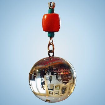 Pool of Light Necklace By Estrella with Very Large Victorian Pool of Light Sphere