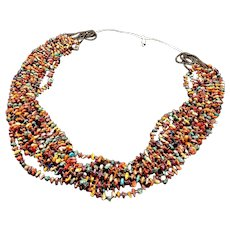 EXQUISITE 10-Strand Santo DOMINGO Spiny Oyster Shell Turquoise HEISHI Necklace