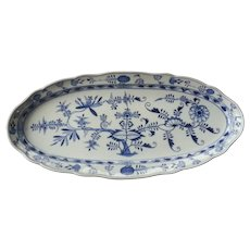 Meissen Porcelain Blue Onion Large Fish Platter (second)