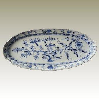 Meissen Porcelain Blue Onion Large Fish Platter (second)