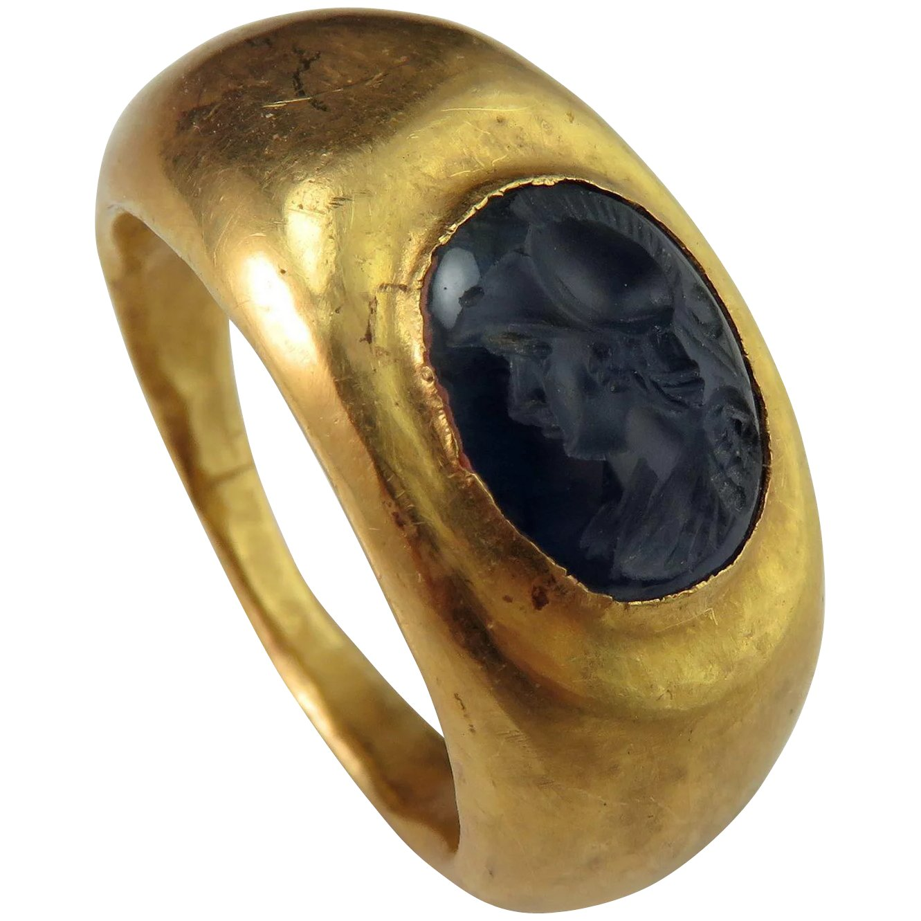 Ancient Roman Rings ancient roman sapphire intaglio 22k gold signet ring circa 2nd c ad antique  intaglio gold signet ring antique signet gold ring ancient greek roman