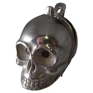 1600s Silver Skull Pomander Pendant Georgian Jewelry Memento Mori Jewelry Poison Locket 17th Century Baroque Jewelry Antique Locket Pendant