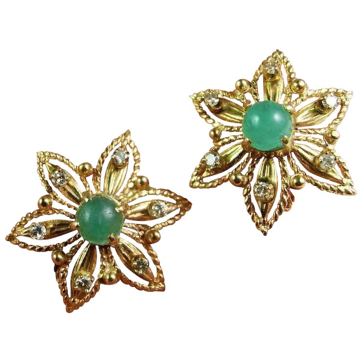 cushion gold stud in ct created cut jewelry emerald earrings